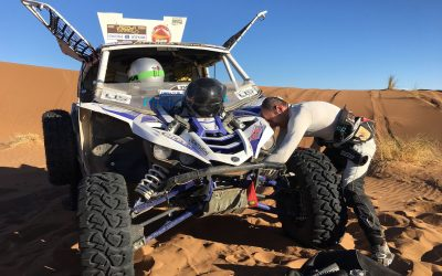 AFRICA ECO RACE 2018  PRIMI PROBLEMI PER  STEFANO PELLONI E GIANLUCA CROCIANI